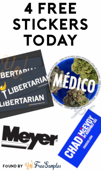 4 FREE Stickers Today: Medico Apparel Stickers, Libertarian Bumper Sticker, Meyer Decal & Chad For NY Assembly 101 Bumper Sticker