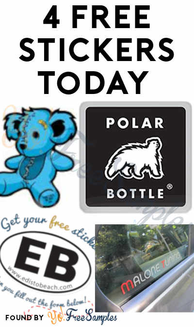 4 FREE Stickers Today: Polar Bottle Sticker, Together We Rise Stickers, Edisto Beach Sticker & Malone Tuning Decal