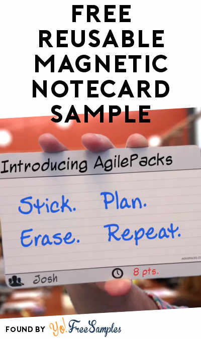 FREE AgilePacks Reusable Magnetic Notecard Sample