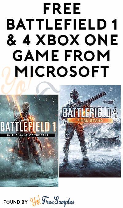 FREE Battlefield 1 & 4 Xbox One Game From Microsoft