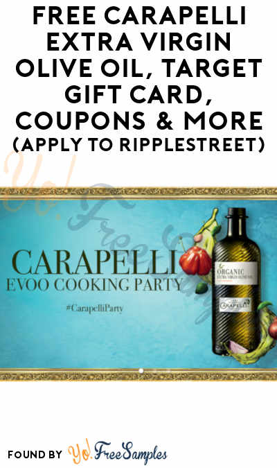 FREE Carapelli Extra Virgin Olive Oil, Target Gift Card, Coupons & More (Apply To RippleStreet)