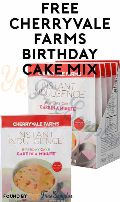 FREE Cherryvale Farms Birthday Cake Mix