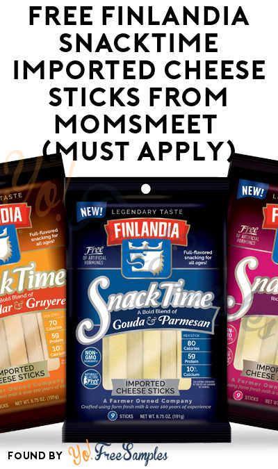 FREE Finlandia SnackTime Imported Cheese Sticks From MomsMeet (Must Apply)