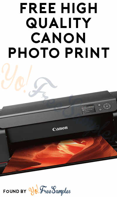 FREE High Quality Canon Photo Print