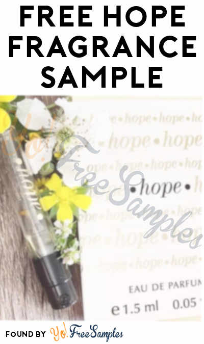 FREE Hope Fragrance Sample