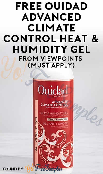 FREE Ouidad Advanced Climate Control Heat & Humidity Gel From ViewPoints (Must Apply)