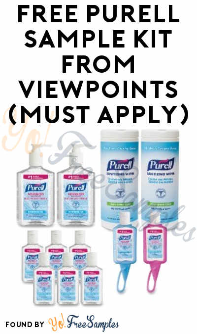 FREE PURELL Sample Kit From ViewPoints (Must Apply)