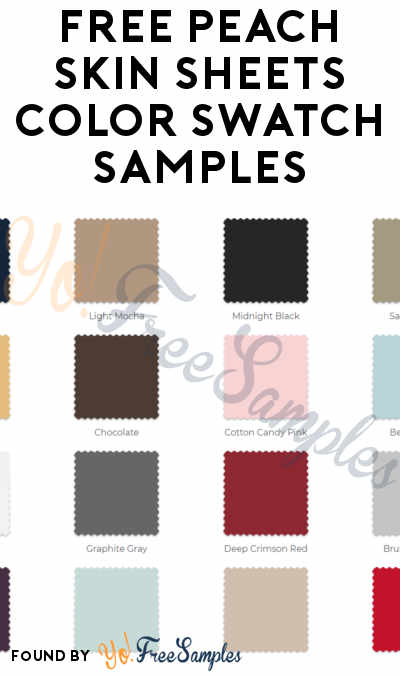 FREE Peach Skin Sheets Color Swatch Samples