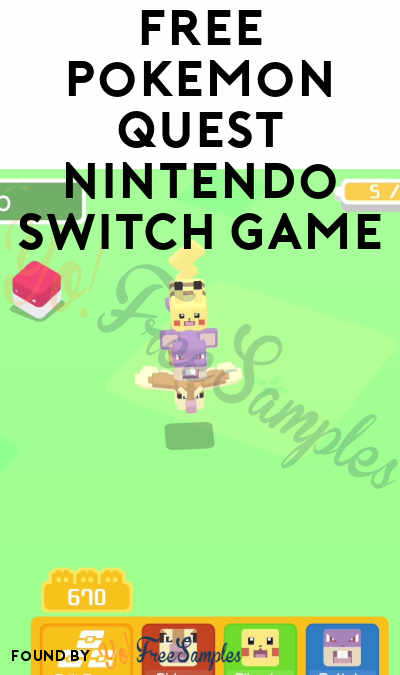 FREE Pokemon Quest Nintendo Switch Game