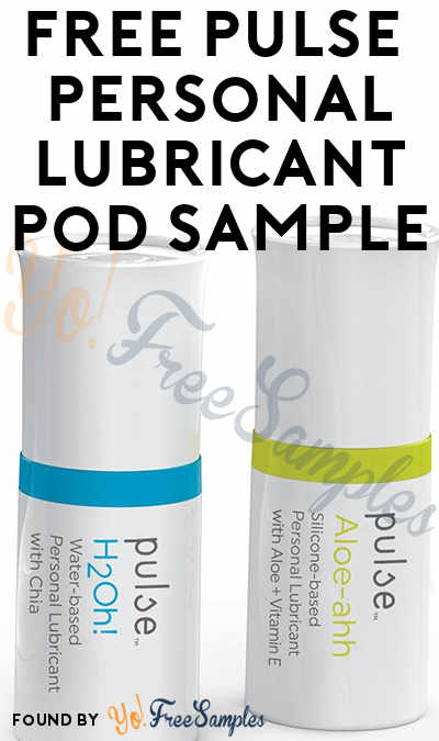 FREE Pulse H2Oh! or Aloe-ahh Personal Lubricant Pod Sample