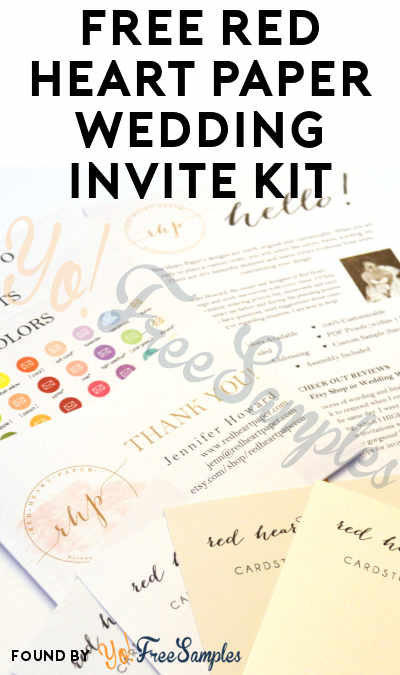 FREE Red Heart Paper Wedding Invite Kit