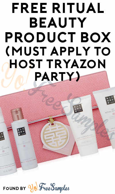 FREE Ritual Beauty Product Box (Must Apply To Host Tryazon Party)