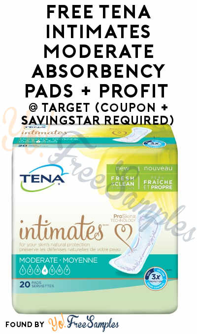 FREE Tena Intimates Moderate Absorbency Pads + Profit At Target (Coupon + SavingStar Required)