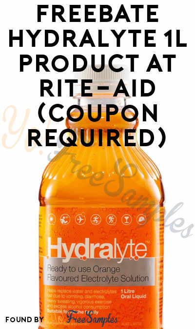 FREEBATE Hydralyte 1L Product At Rite-Aid (Coupon Required)