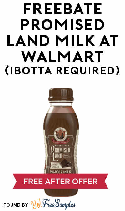 FREEBATE Promised Land Milk At Walmart (Ibotta Required)