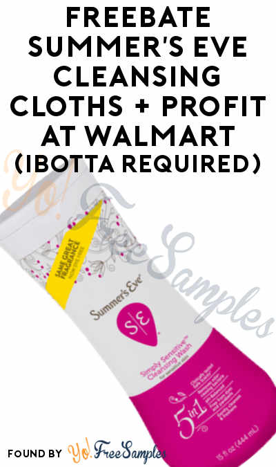 FREEBATE Simply Summer's Eve Cleansing Cloths At Walmart (Ibotta Required)