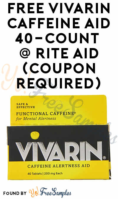 FREEBATE Vivarin Caffeine Aid 40-Count + Profit At Rite Aid (Coupon Required)