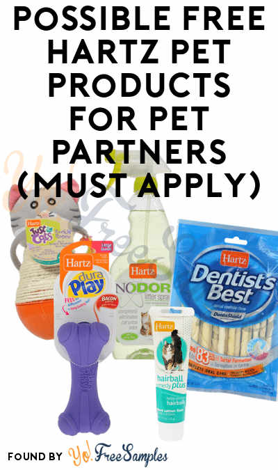 Check Emails For Sampling Invites: Possible FREE Hartz Pet Products For Pet Partners (Must Apply)
