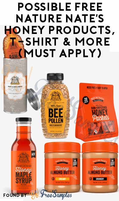 Possible FREE Nature Nate's Honey Products, T-Shirt & More (Must Apply)