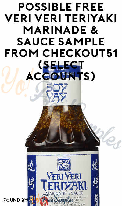 Possible FREE Veri Veri Teriyaki Marinade & Sauce Sample From Checkout51 (Select Accounts)