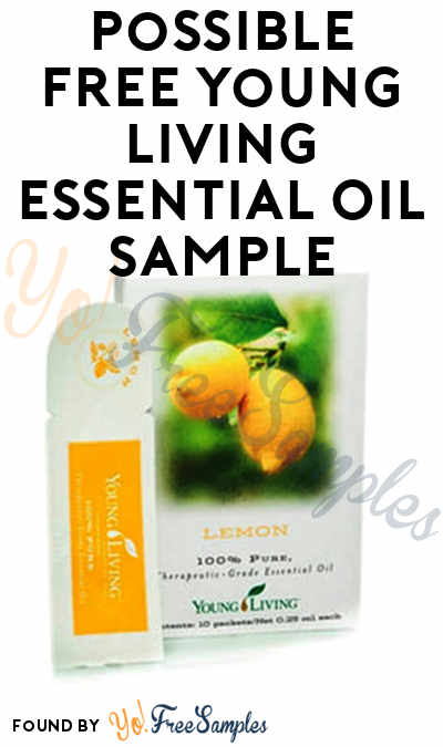 Possible FREE Young Living Essential Oil Sample