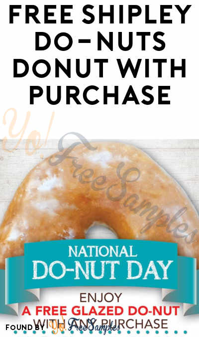 FREE Glazed Donut At Shipley Do-Nuts On National Donut Day