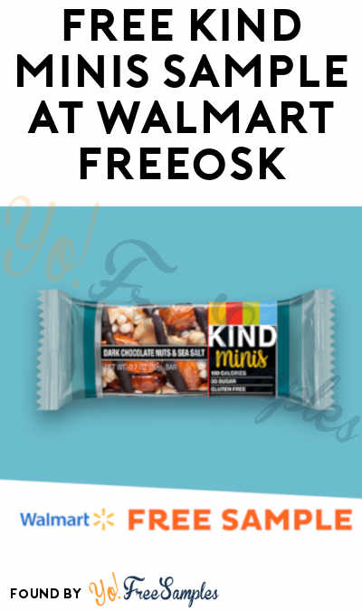 FREE KIND Minis Sample At Walmart Freeosk