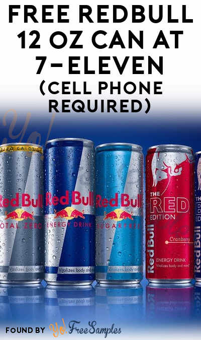 FREE Redbull 12 oz Can At 7-Eleven (Cell Phone Required) [Verified In-Store]