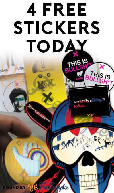 4 FREE Stickers Today: Dead Punk Sticker Pack, Majic Hand Sticker, Limited Edition Colorado Ski Sticker & This Is Bullsh*t Cling