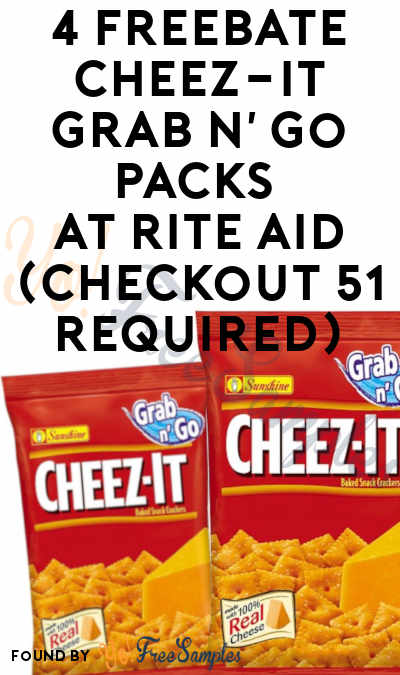 4 FREEBATE Cheez-It Grab n' Go Packs At Rite Aid (Checkout 51 Required)