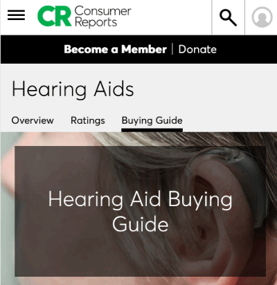 Consumer Reports Hearing Aid Guide