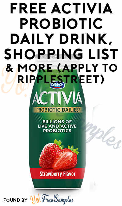 FREE Activia Probiotic Daily Drink, Shopping List & More (Apply To RippleStreet)