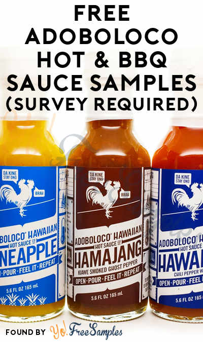 FREE Adoboloco Hot & BBQ Sauce Samples (Survey Required)