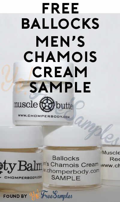 FREE Ballocks Men's Chamois Cream Sample