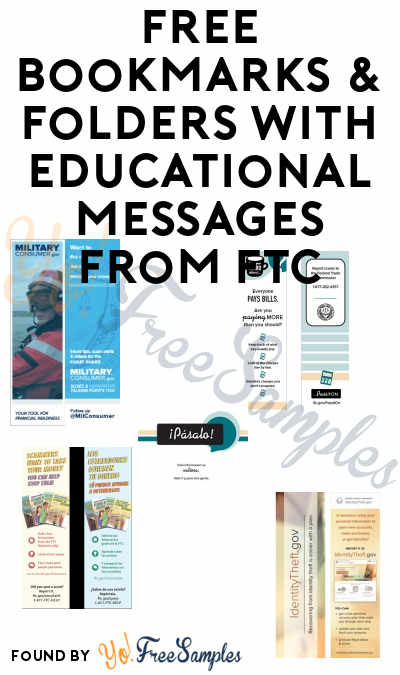 FREE Bookmarks & Folders With Educational Messages From FTC