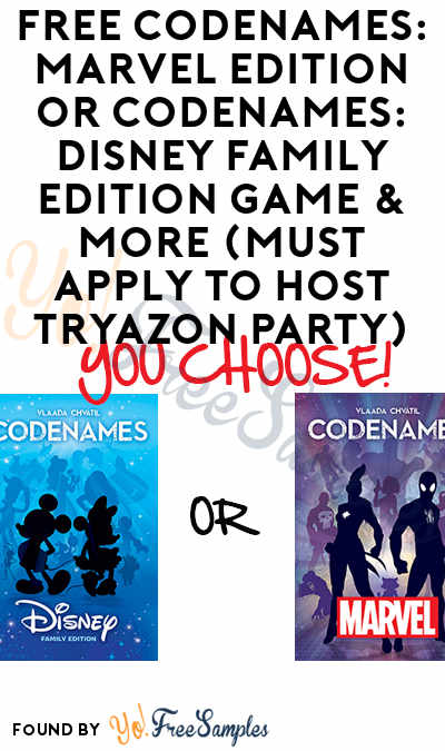 FREE CODENAMES: Marvel Edition or CODENAMES: Disney Family Edition Game & More (Must Apply To Host Tryazon Party)