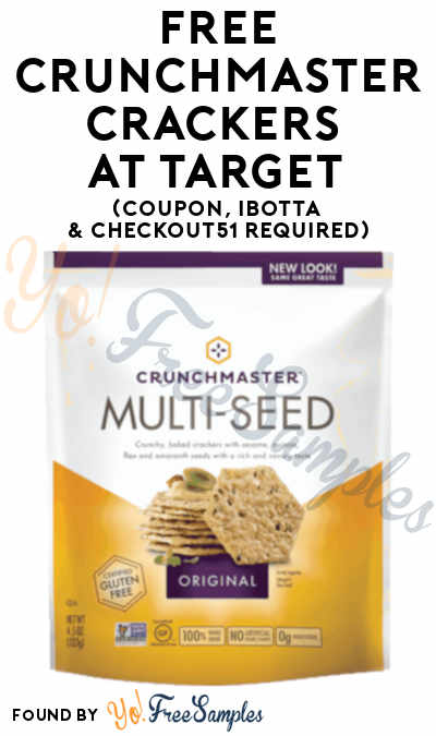 FREE Crunchmaster Crackers + Profit At Target (Coupon, Ibotta & Checkout51 Required)