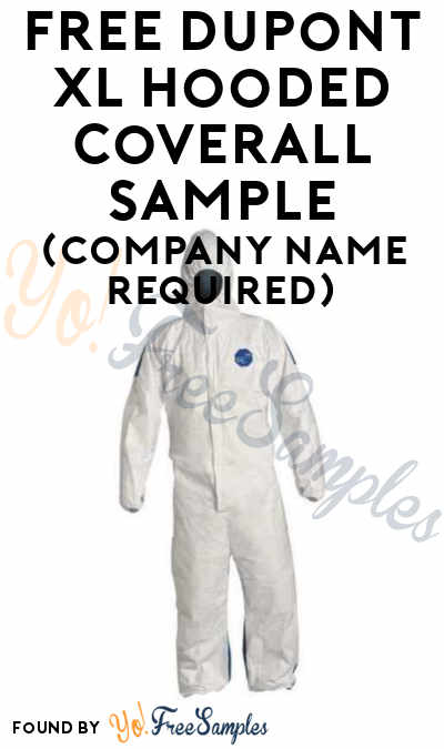 FREE Dupont XL Hooded Coverall Sample (Company Name Required)