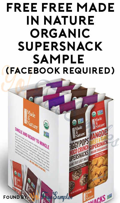 FREE Made In Nature Organic Supersnack Sample (Facebook Required)