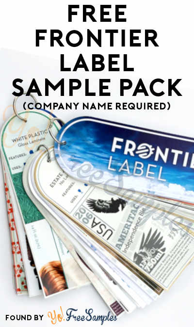 FREE Frontier Label Sample Pack (Company Name Required)