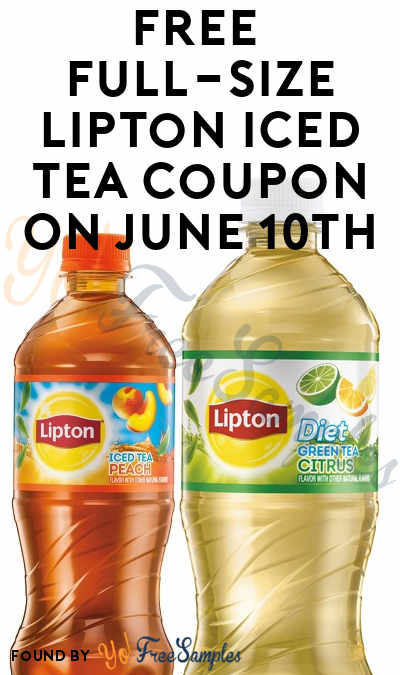 First 100,000! FREE Full-Size Lipton Iced Tea Coupon