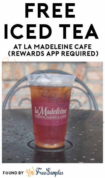 FREE Ice Tea At La Madeleine Cafe On June 21st (Rewards App Required)