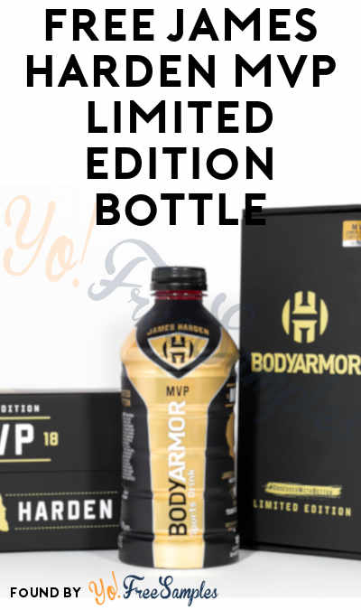 FREE James Harden MVP Limited Edition Bottle