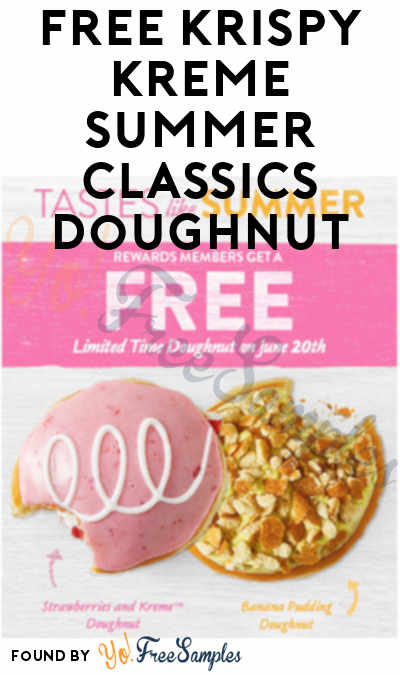 TODAY ONLY: FREE Krispy Kreme Summer Classics Doughnut On 6/20 (Mobile App Required)