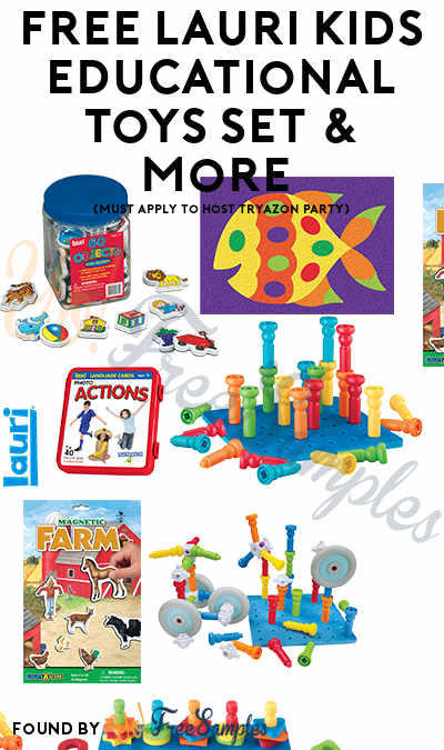 FREE Lauri Kids Educational Toys Set & More (Must Apply To Host Tryazon Party)
