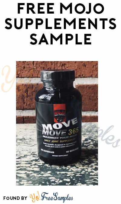 FREE Mojo Supplements Sample