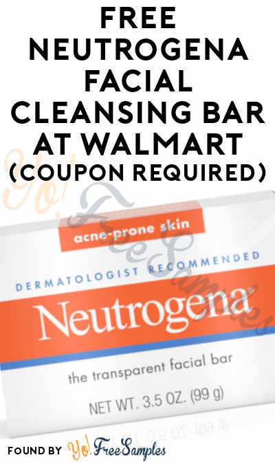 FREE Neutrogena Facial Cleansing Bar At Walmart (Coupon Required)