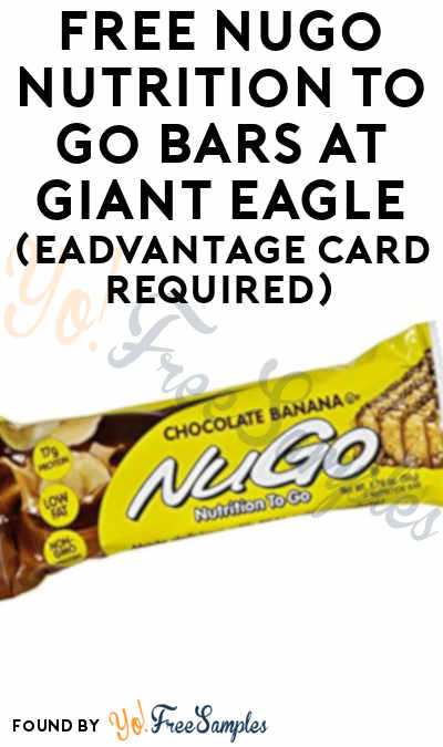 FREE NuGo Nutrition To Go Bars At Giant Eagle (eAdvantage Card Required)
