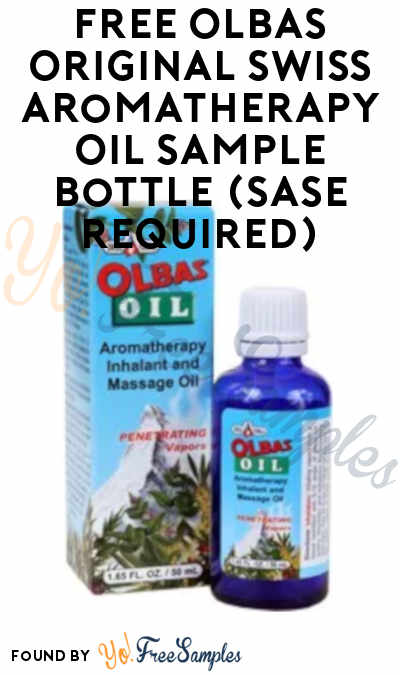 FREE Olbas Original Swiss Aromatherapy Oil Sample (SASE Required)