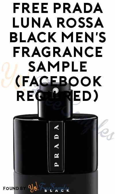 FREE Prada Luna Rossa Black Men's Fragrance Sample (Facebook Required)